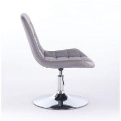 Kosmetická židle PARIS na kulaté podstavě šedá