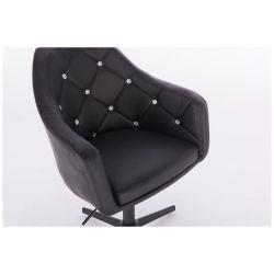 Kosmetická židle ROMA na černém kříži - černá