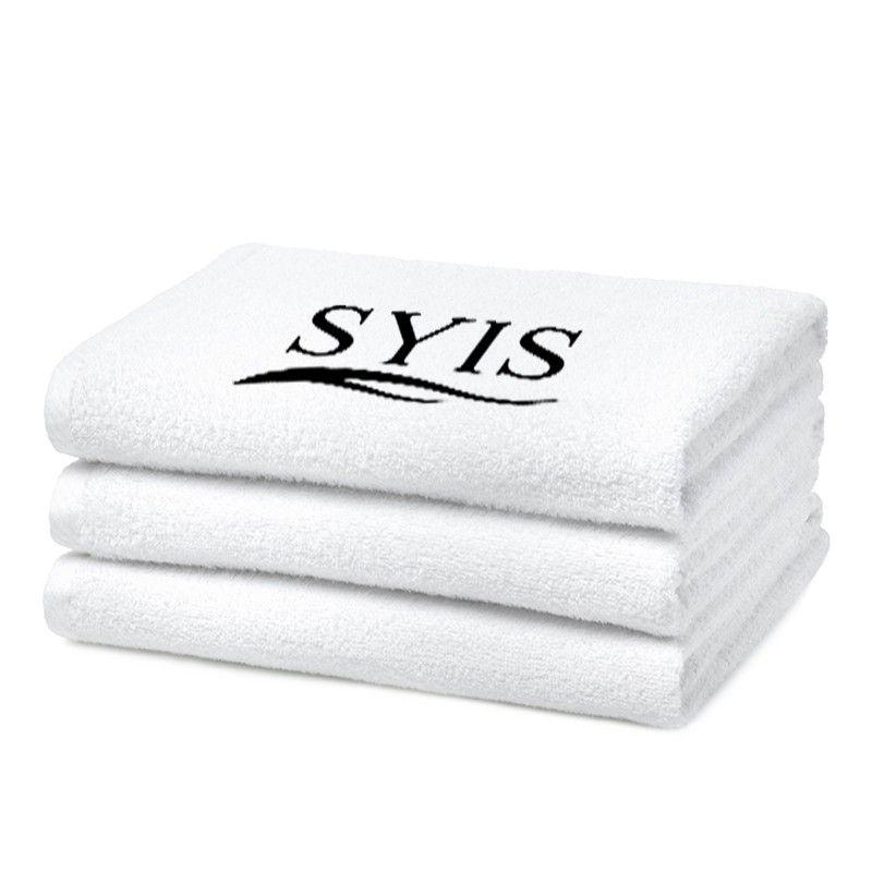 Froté ručník s logem SYIS 70x140 - bílý