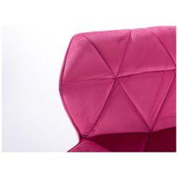 Kosmetická židle MILANO VELUR na černém talíři - růžová