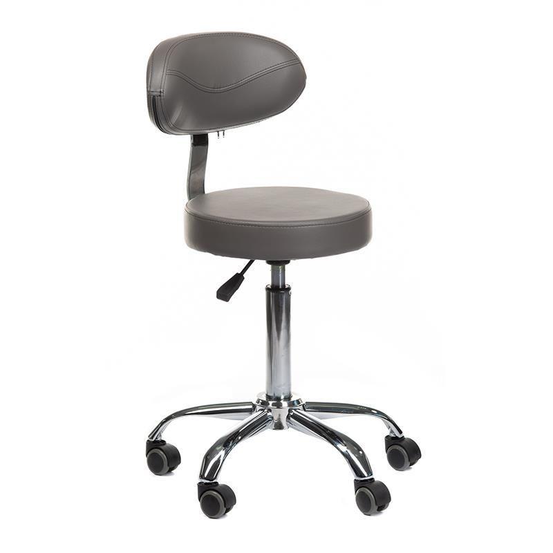 Židle BR-9934 na stříbrné podstavě s kolečky - šedá