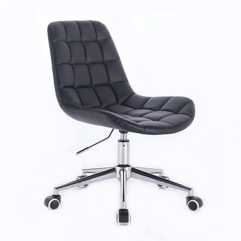 Kosmetická židle PARIS na podstavě s kolečky černá