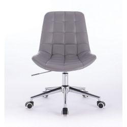 Kosmetická židle PARIS na podstavě s kolečky šedá