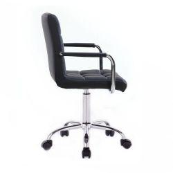 Kosmetická židle VERONA na podstavě s kolečky černá