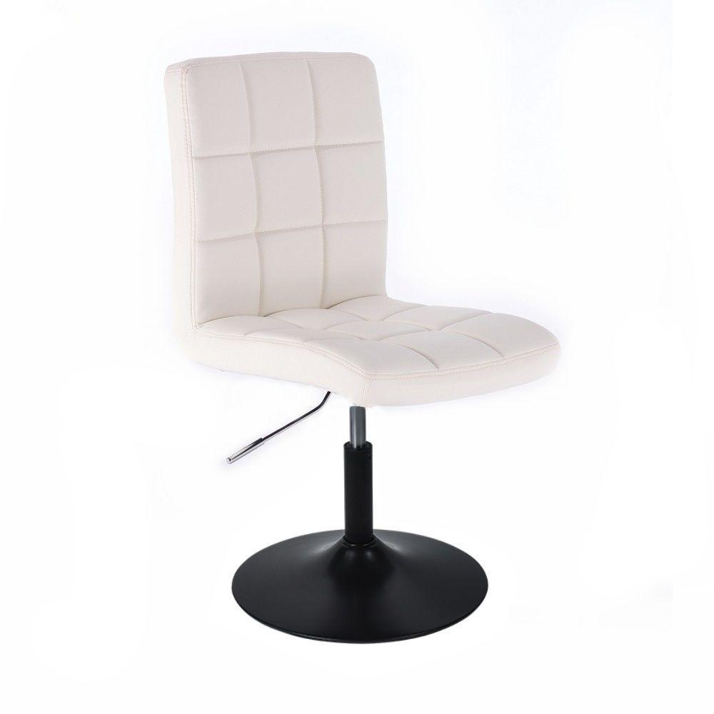 Kosmetická židle TOLEDO na černém talíři - bílá