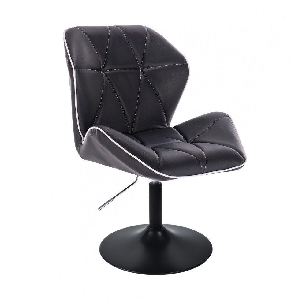 Židle MILANO MAX na černém talíři - černá