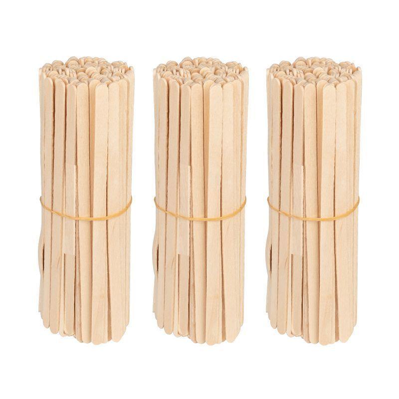 Dřevěná špachtle malá 140x6x1.4 mm - 150 ks