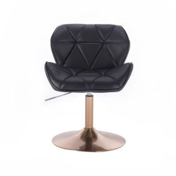 Kosmetická židle MILANO na zlatém talíři - černá