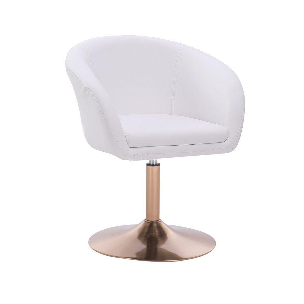 Kosmetická židle VENICE na zlatém talíři  - bílá