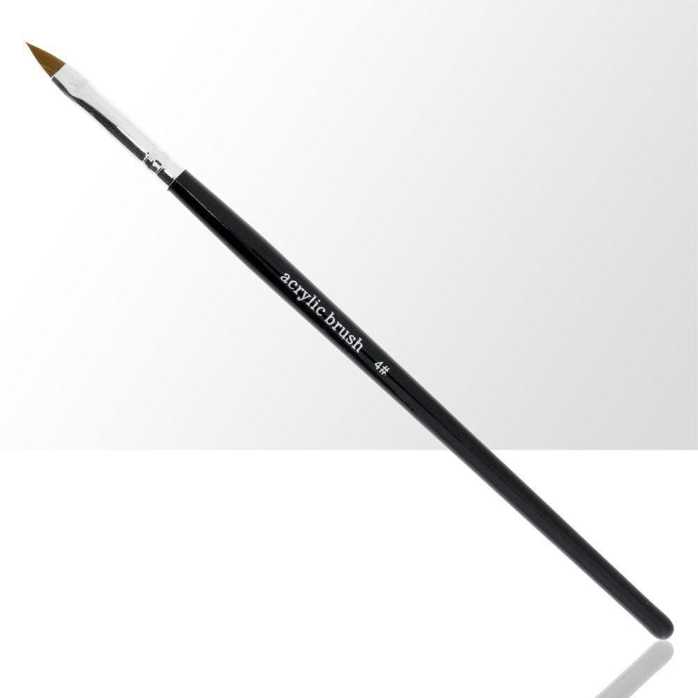 Štětec na akrylovou modeláž nehtů č. 4  černý