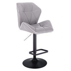 Barová židle MILANO MAX na černém talíři - šedá