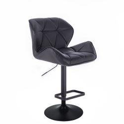 Barová židle MILANO na černém talíři  - černá