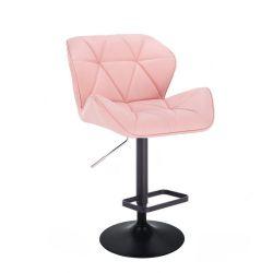 Barová židle MILANO na černém talíři  - růžová