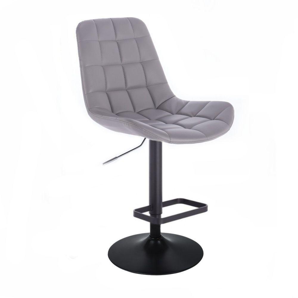 Barová židle PARIS na černém talíři - šedá