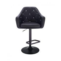 Barová židle ROMA na černém talíři - černá