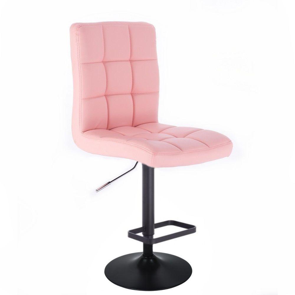 Barová židle TOLEDO na černém talíři - růžová
