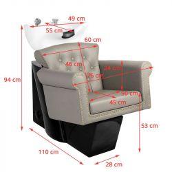 Kadeřnický mycí box GABBIANO BERLIN 906 šedý