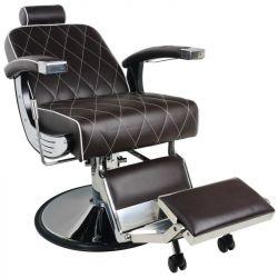 Holičské křeslo GABBIANO IMPERIAL hnědé (AS) barbers křeslo