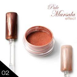 02. Chromatic pigment - PALE MARSALA - Chromový efekt (A)