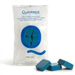 Tvrdý vosk na depilaci QUICKEPIL modrý 1kg