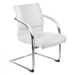 Konferenční židle / židle do čekárny BX-3339B bílá