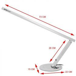 Stolní lampa SLIM 20W stříbrná