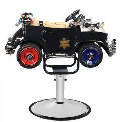 Dětské kadeřnické křeslo GABBIANO - autíčko - Policie B082
