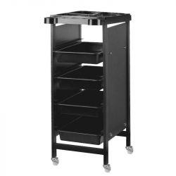 Kadeřnický pojízdný stolek 8-103 - černý