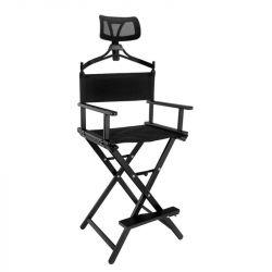 Skládací hliníková židle černá