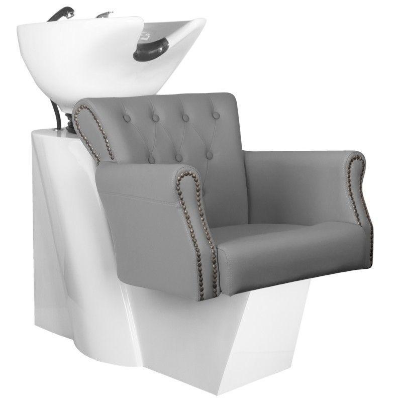 Kadeřnický mycí box BER 8183 šedý