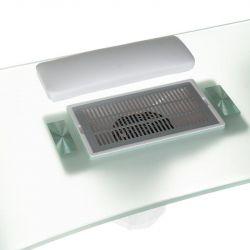 Stolek pro manikúru + absorbér BD-3425-1 + P  bílý