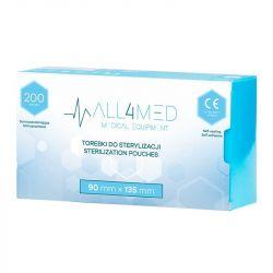 ALL4MED Sterilizační sáčky 90x135 mm - 200 ks